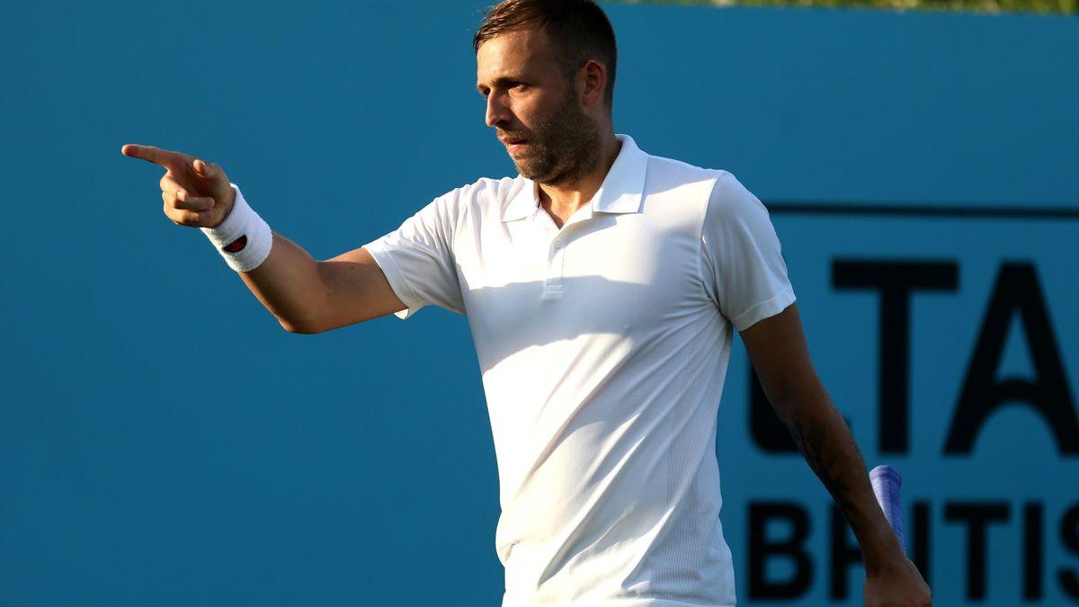 Dan Evans made an impressive return to Davis Cup action