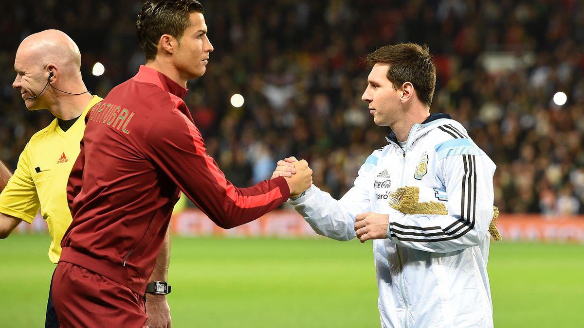 Cristiano Ronaldo și Messi, în meciul dintre Portugalia și Argentina