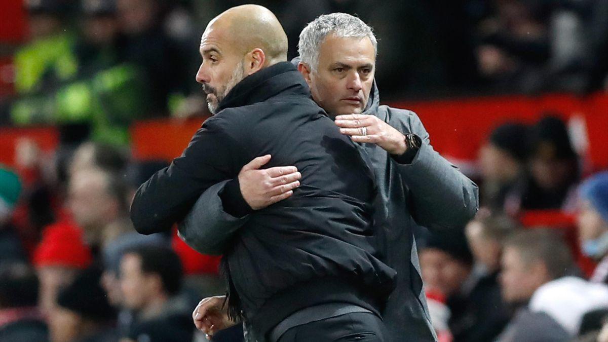 Pep Guardiola și Jose Mourinho