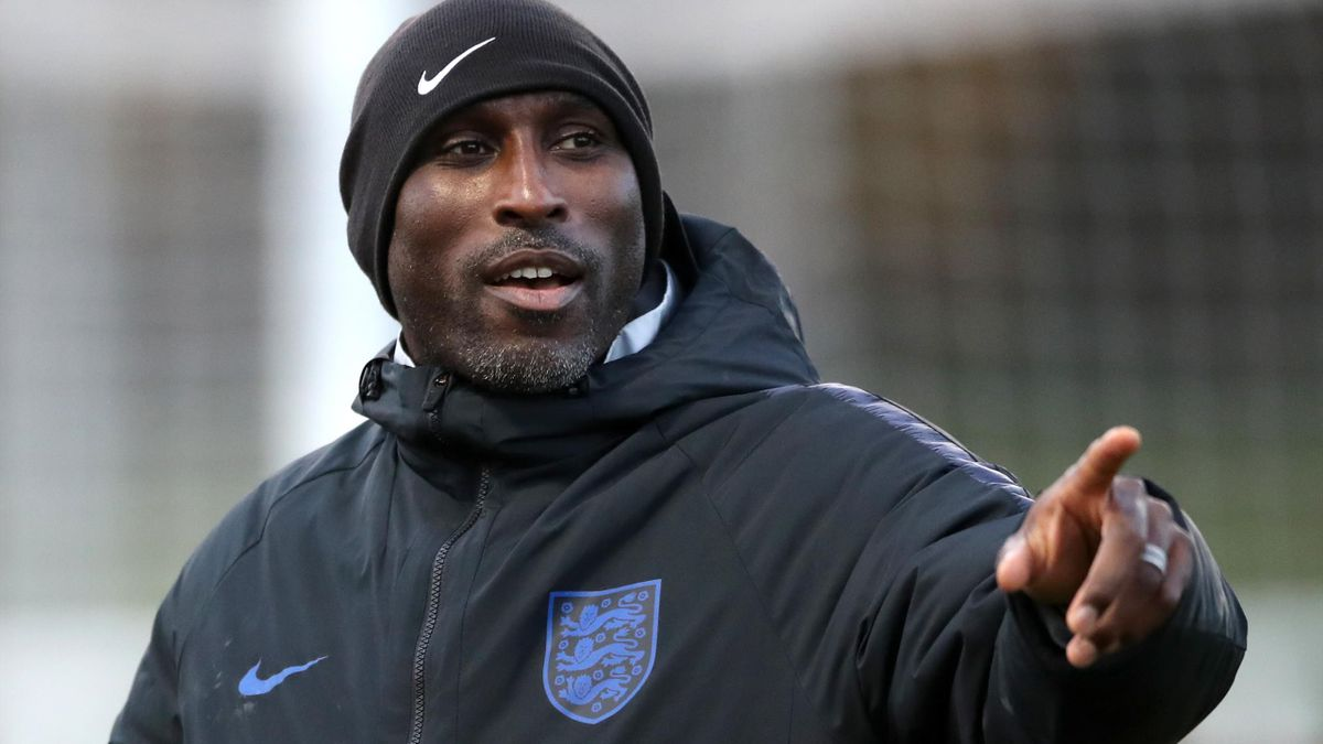 Sol Campbell spent 10 days helping coach England Under-21s at St George's Park