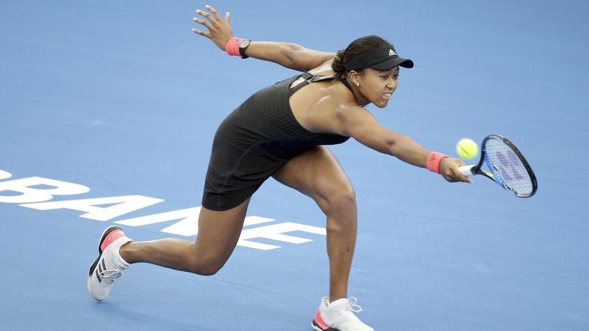 Naomi Osaka struggled in Brisbane (Tertius Pickard/AP)