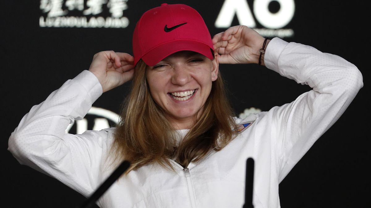Simona Halep was all smiles ahead of the Australian Open