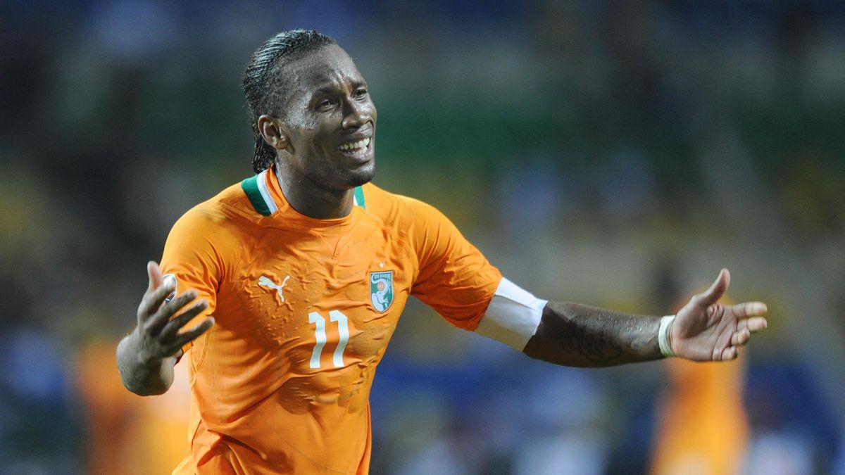 Didier Drogba en uno de los momentos de la Copa de África de 2012