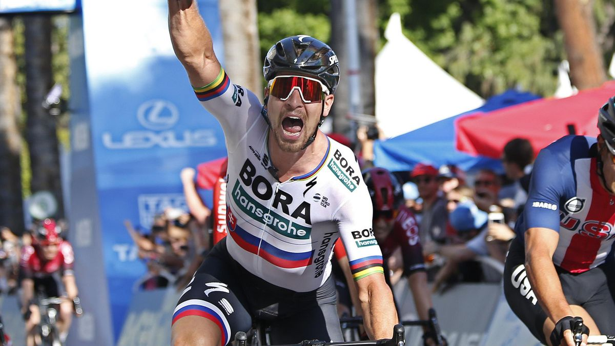 Peter Sagan claimed victory in the opening stage of the Tour of California