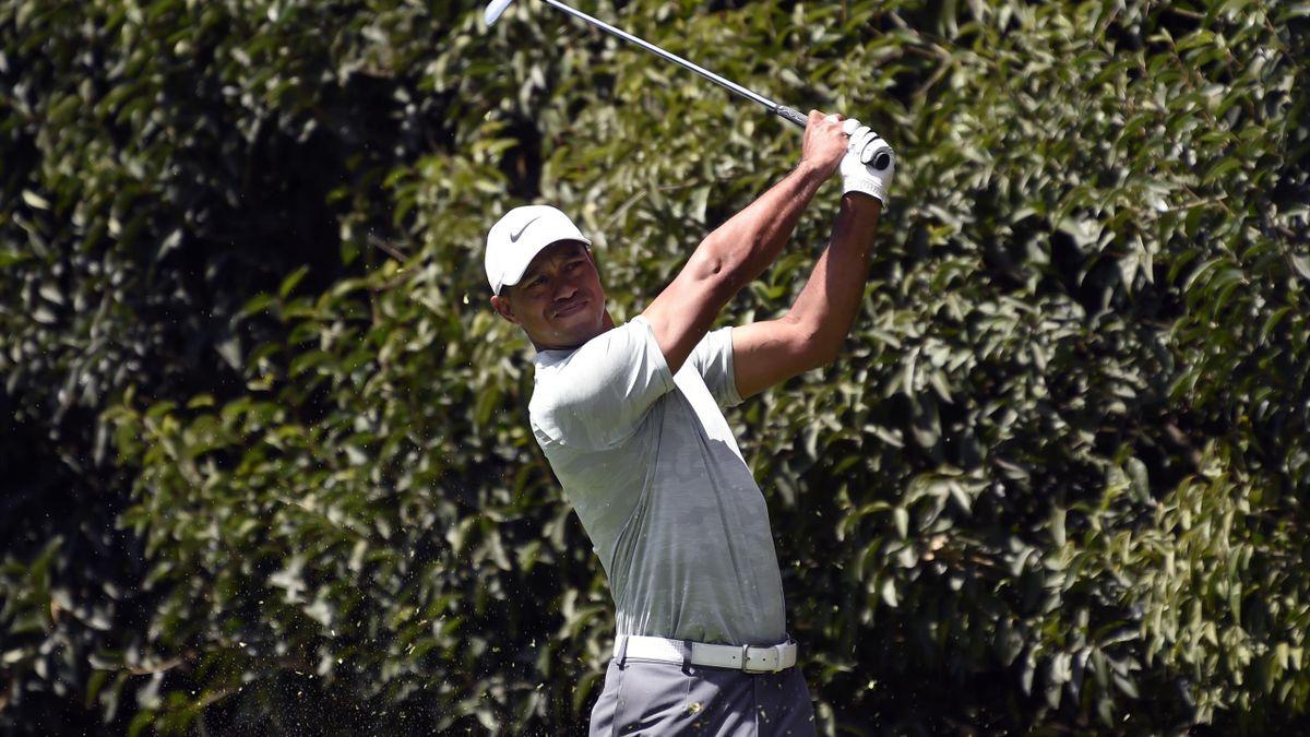 Liegt derzeit neun Schläge hinter Koepka: Tiger Woods