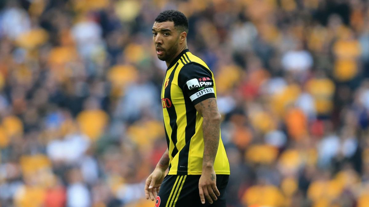 Troy Deeney of Watford during the FA Cup Semi Final match between Watford and Wolverhampton Wanderers at Wembley Stadium, London on Sunday 7th April 2019