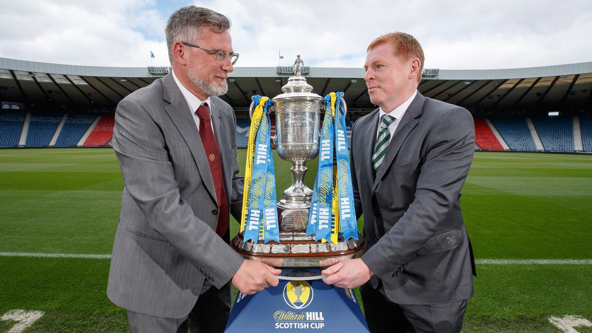 Celtic manager Neil Lennon (right) does not want his side looking any further ahead than Saturday's William Hill Scottish Cup final with Craig Levein's Hearts