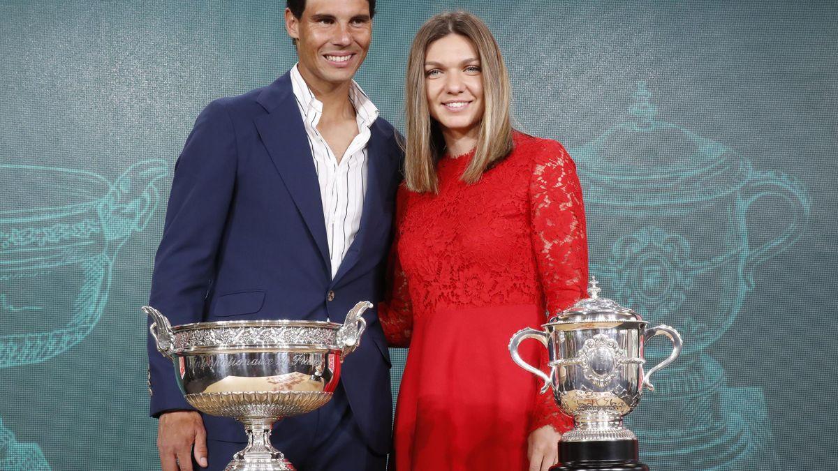 Rafael Nadal (left) and Simona Halep