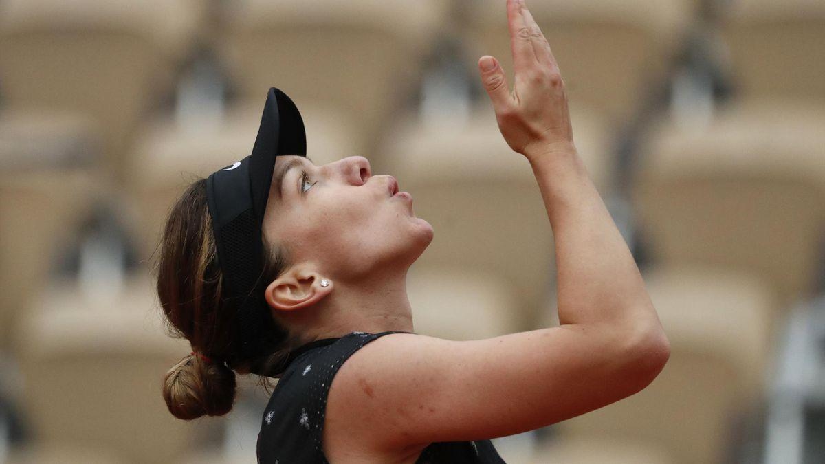 Simona Halep made progress despite feeling unwell