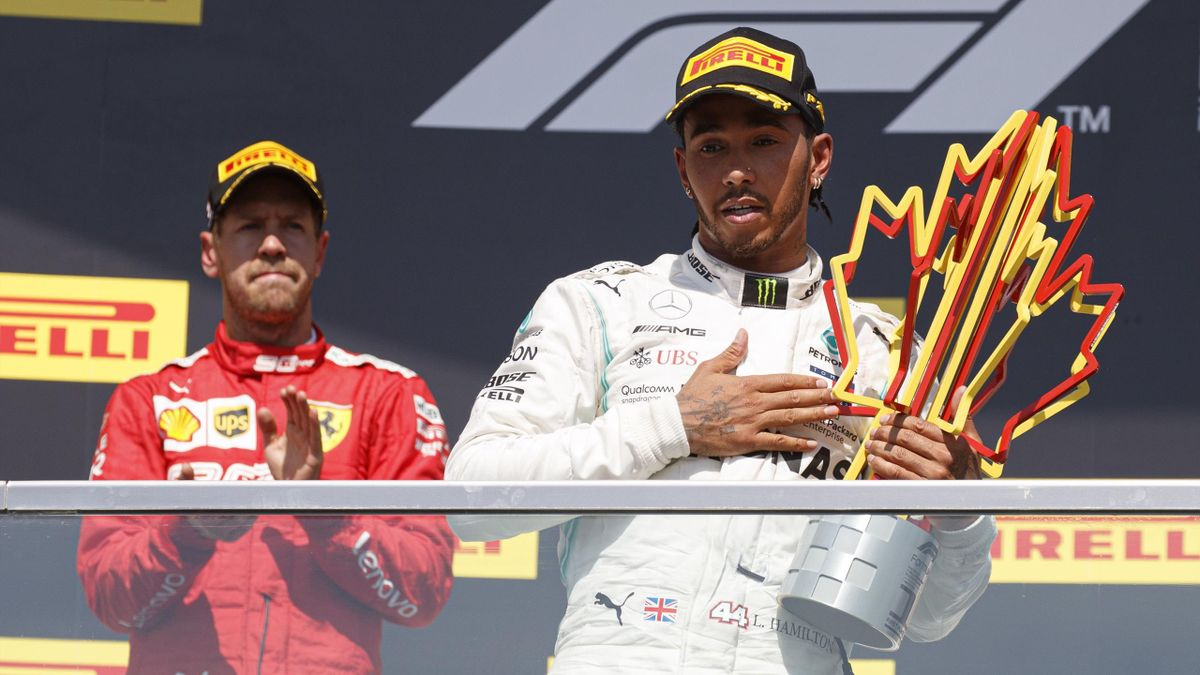 Vettel y Hamilton, GP Canada podio