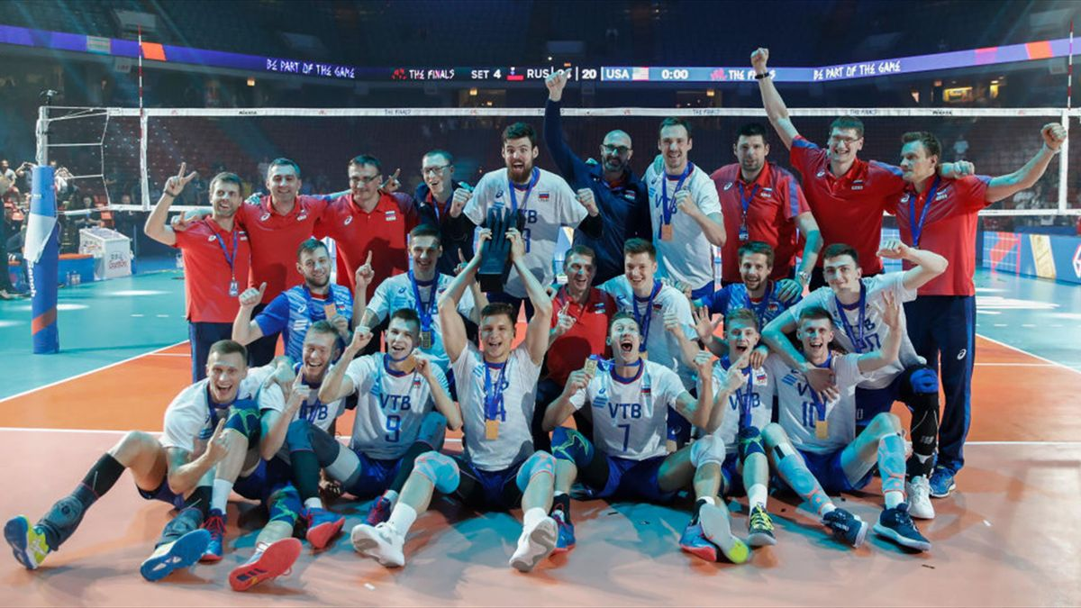 Russia beat USA to secure back-to-back men's volleyball Nations League titles