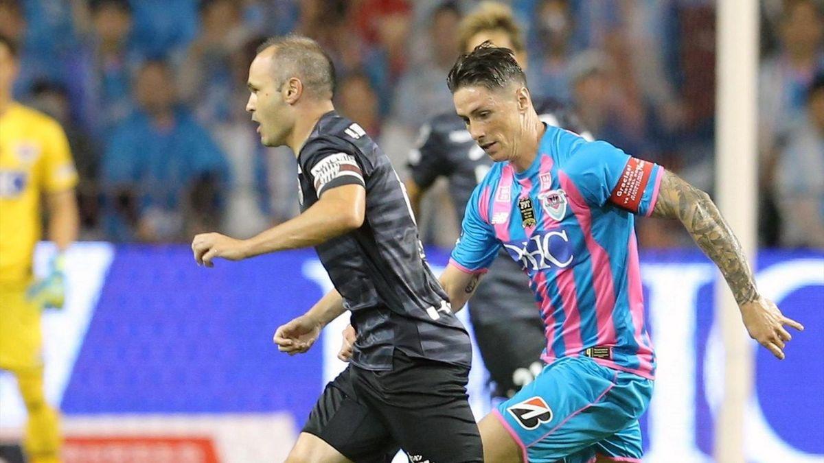 Torres en su último partido como profesional