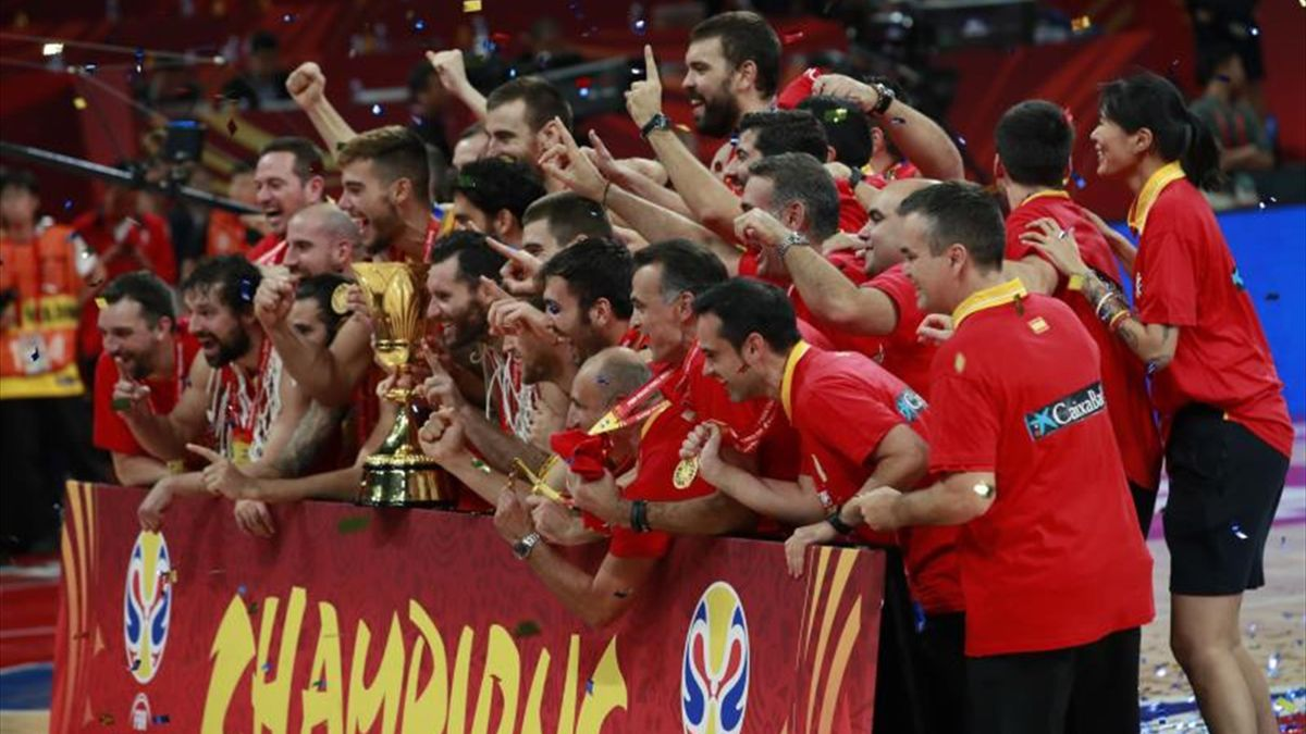 Celebración España Mundial baloncesto 2019