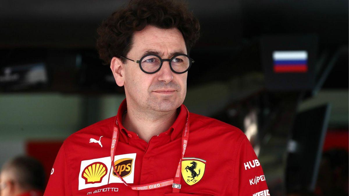 Mattia Binotto (Ferrari) au Grand Prix de Russie 2019