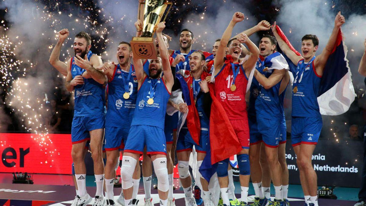 Euro 2019 de volley : la Serbie remporte le titre en battant la Slovénie en finale