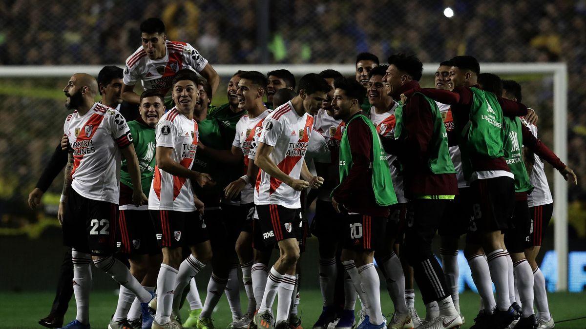 River-Plate-Spieler bejubeln Finaleinzug