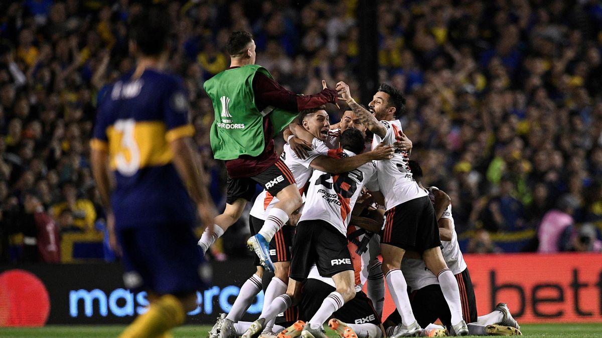 River Plate festeja el pase a la final de la Libertadores