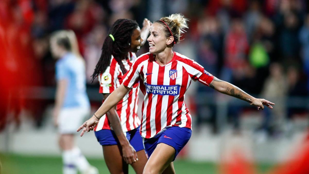 Sosa celebra su gol en el Atlético-Manchester City