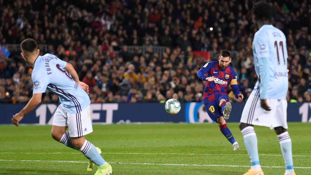 Messi traf dreimal mit ruhenden Bällen