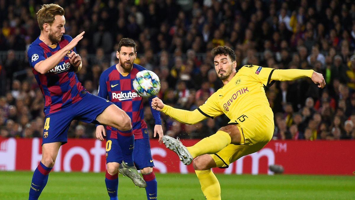 Barcelona Dortmund, Hummels, Rakitic y Messi
