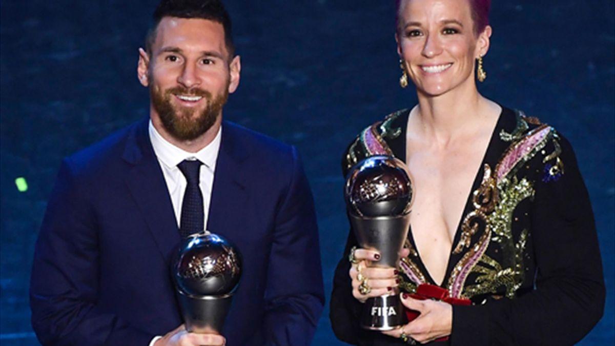 Die Favoriten: Lionel Messi (l.) und Megan Rapinoe (r.)