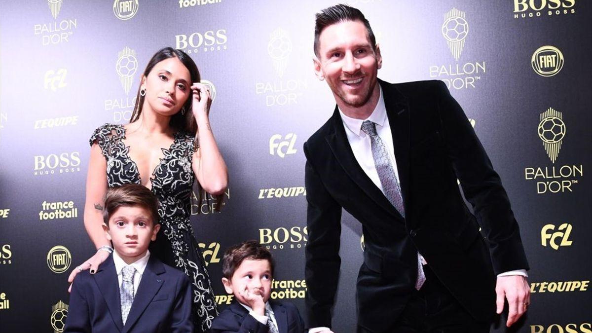 Leo Messi en la Gala del Balón de Oro 2019