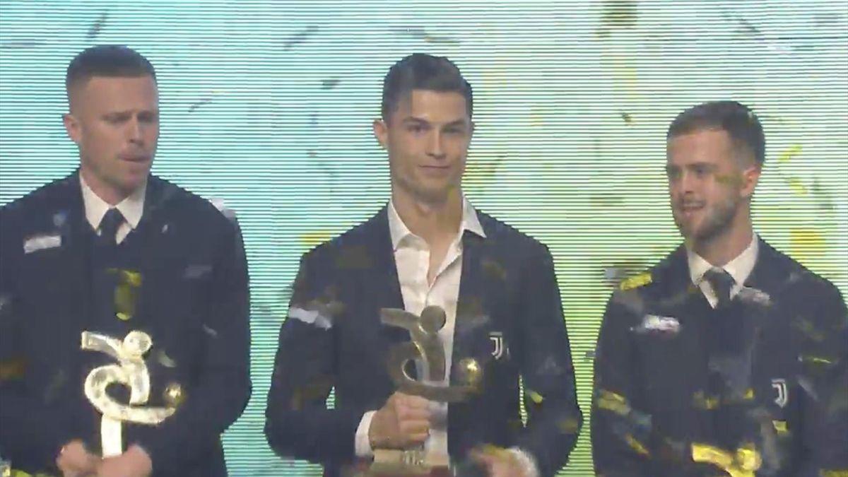Cristiano Ronaldo en la gala de la Serie A