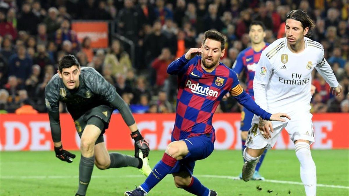 Messi en el Barcelona-Real Madrid en el Clásico