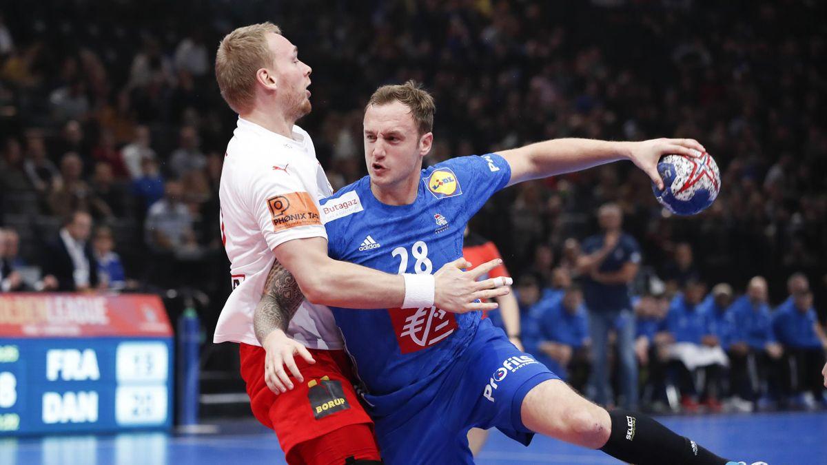 Valentin Porte (France) en Golden League face au Danemark
