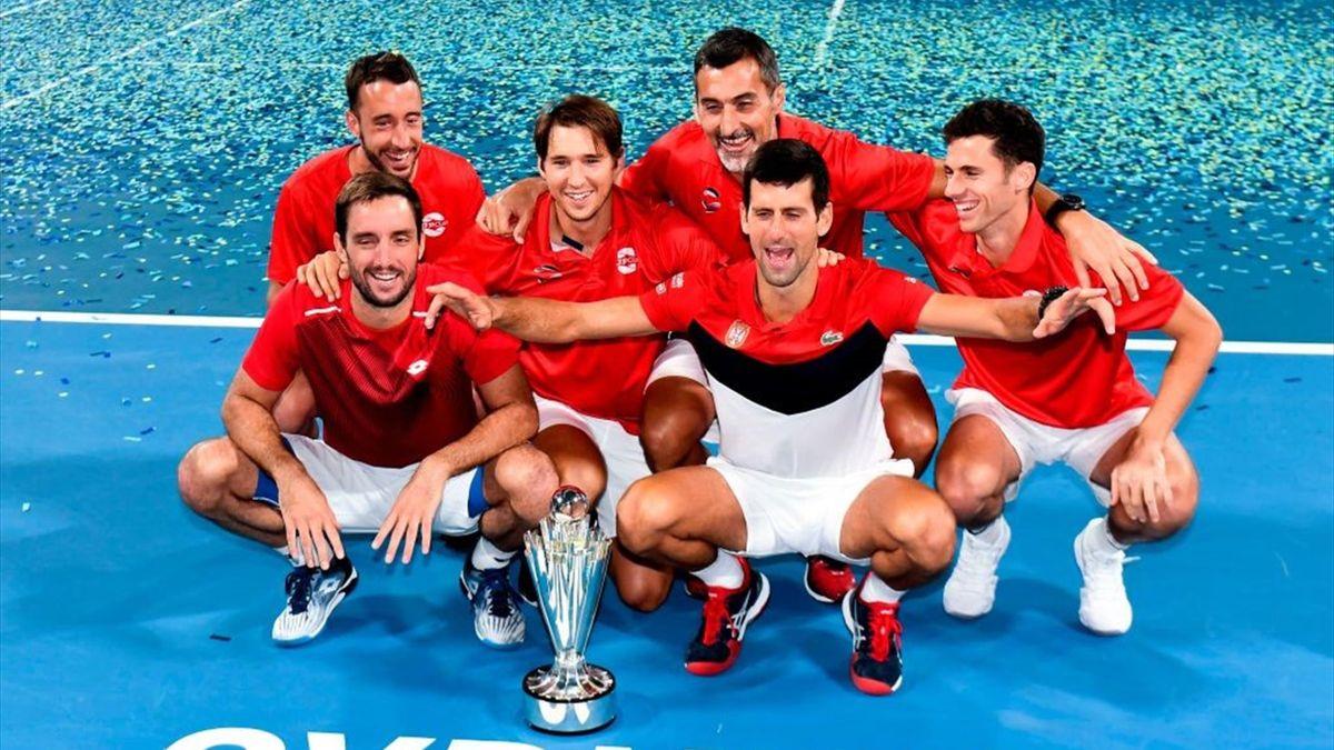 Novak Djokovic en el ATP Cup