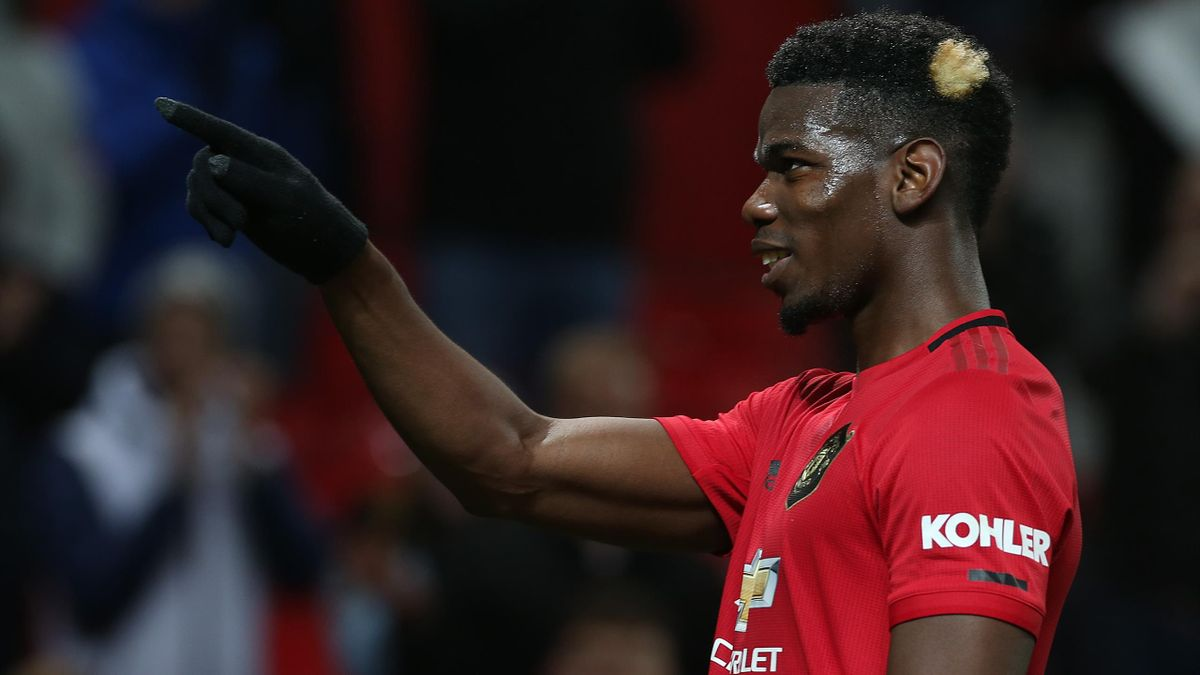 Paul Pogba of Manchester United walks off after the Premier League match between against Newcastle United at Old Trafford on December 26, 2019 in Manchester, United Kingdom.