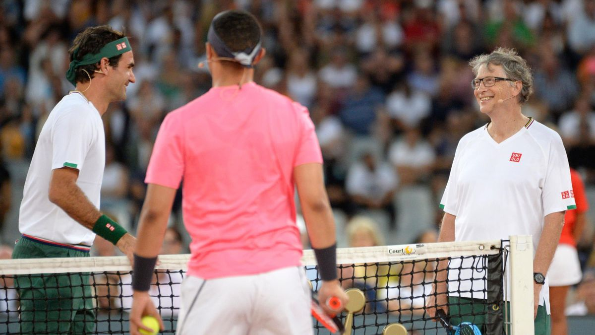 Bill Gates se unió a la fiesta de Federer y Nadal