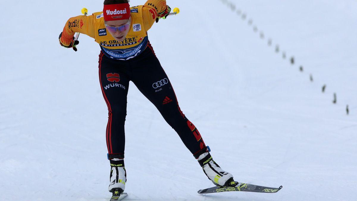 Katharina Hennig lief mit der Staffel auf Rang fünf
