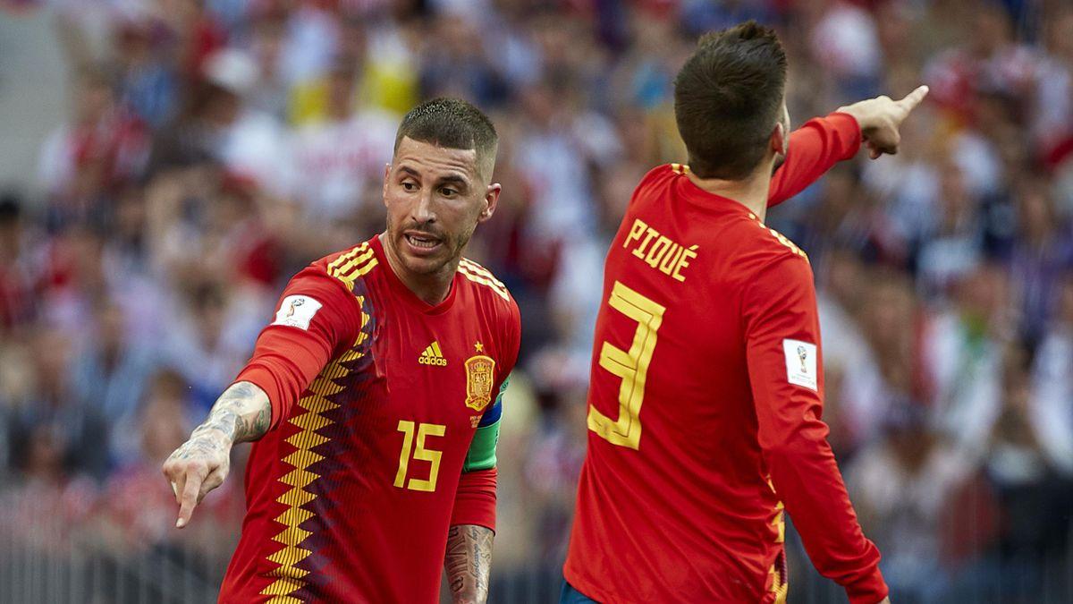 Piqué y Ramos Mundial 2018