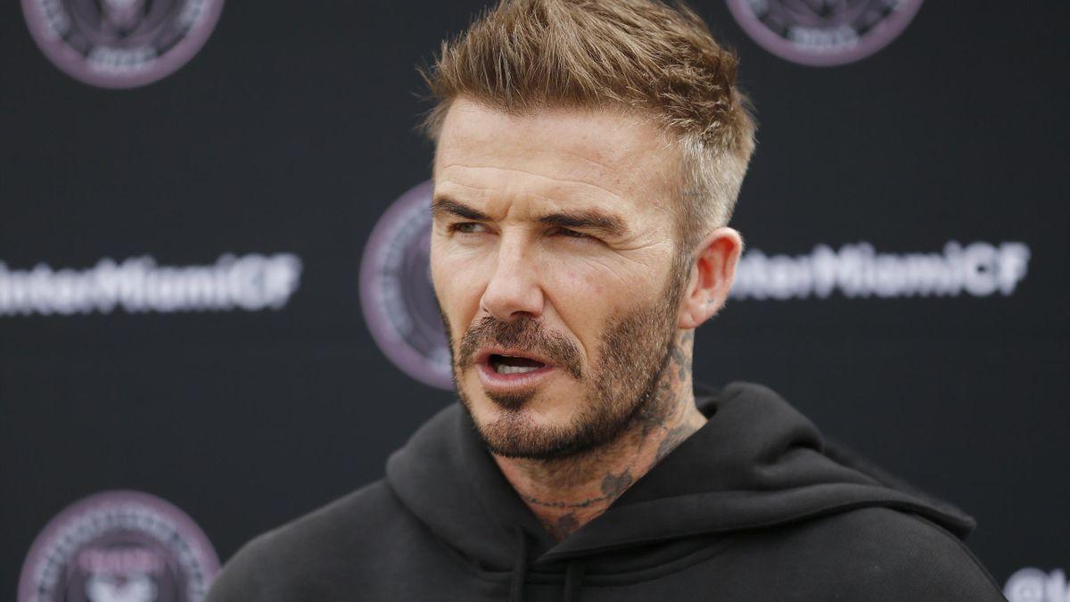 David Beckham besucht leeres Stadion