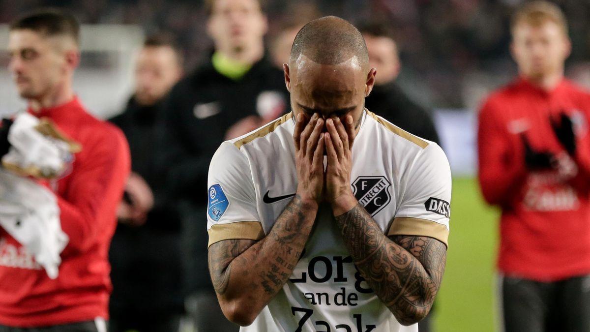 Sean Klaiber (FC Utrecht) după victoria obținută de echipa sa în semifinalele Cupei Olandei contra celor de la Ajax