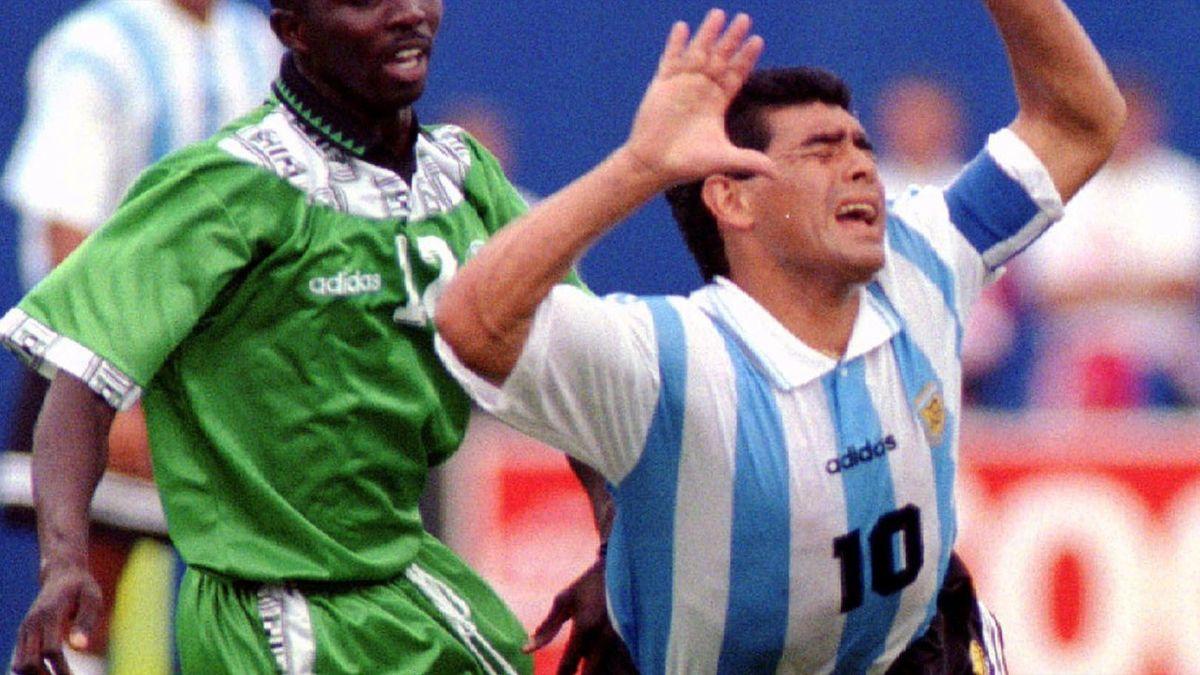 Diego Maradona, contra Nigeriei, la CM 1994