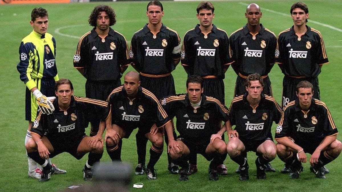 Alineación titular del Real Madrid ante el Valencia en la final de la Champions League 1999/2000