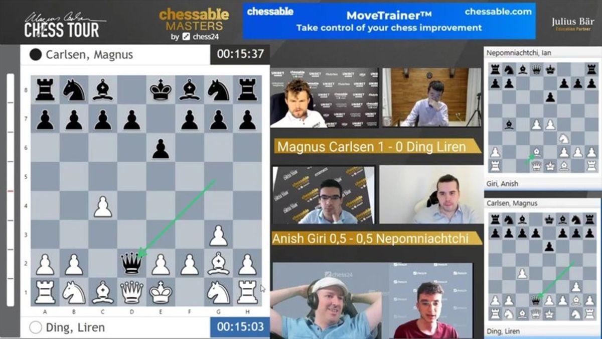 Carlsen pierde a posta