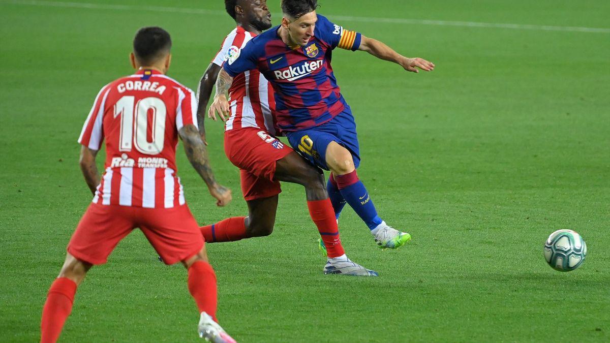 Thomas Partey, într-un duel cu Messi