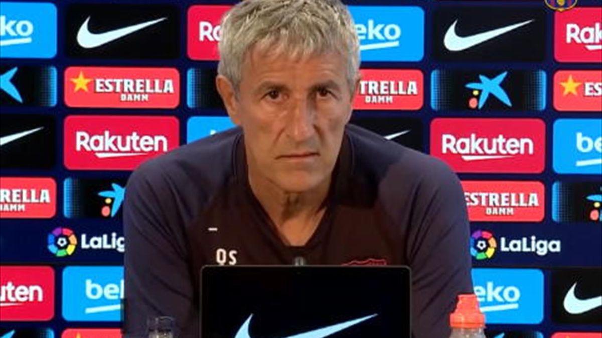 Quique Setien a susținut conferința de presă înainte de meciul cu Napoli din Champions League