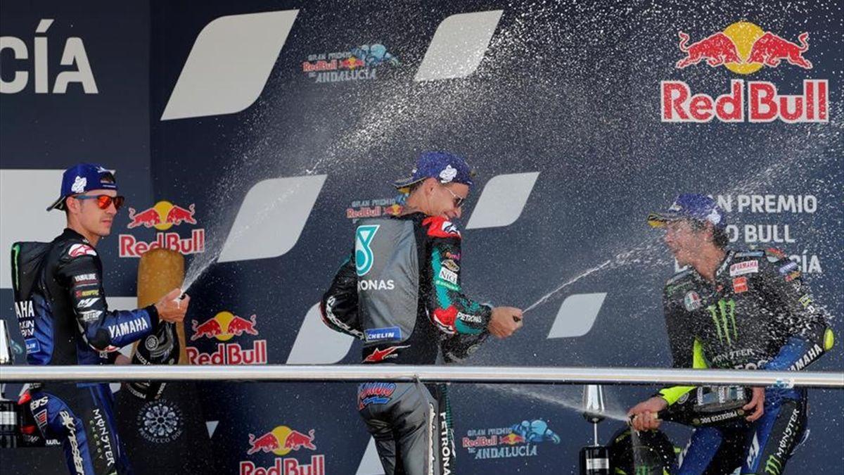 GP de Andalucía: Celebración en el podio