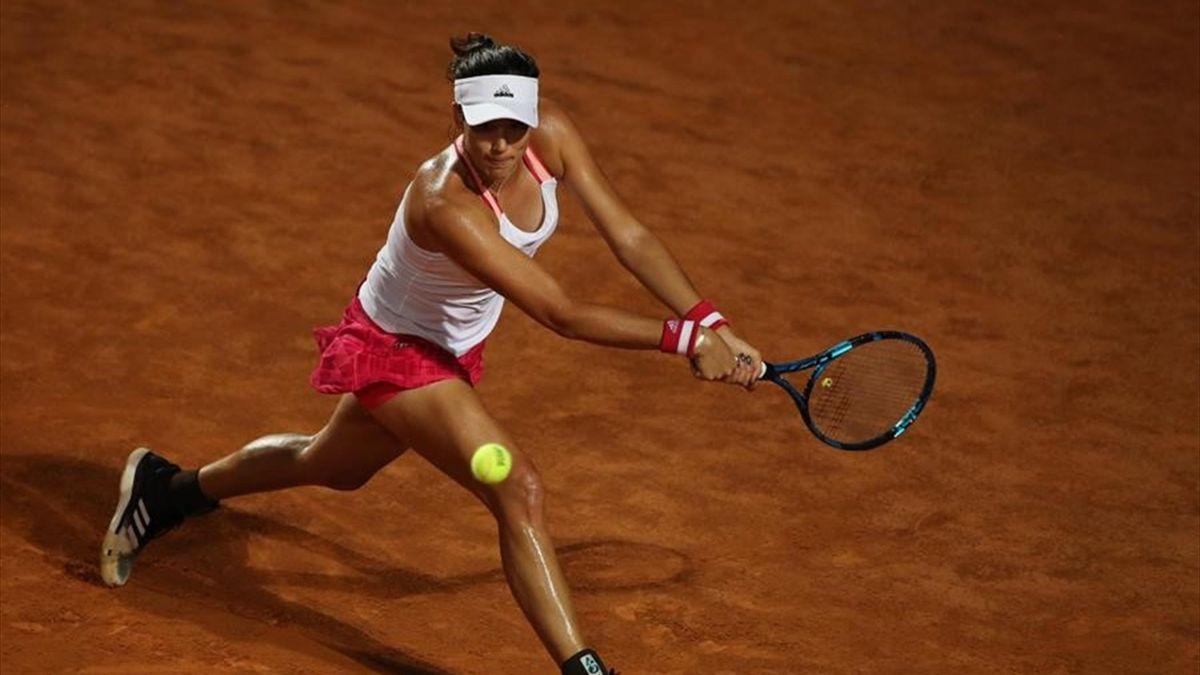 Garbiñe Muguruza en el WTA Roma