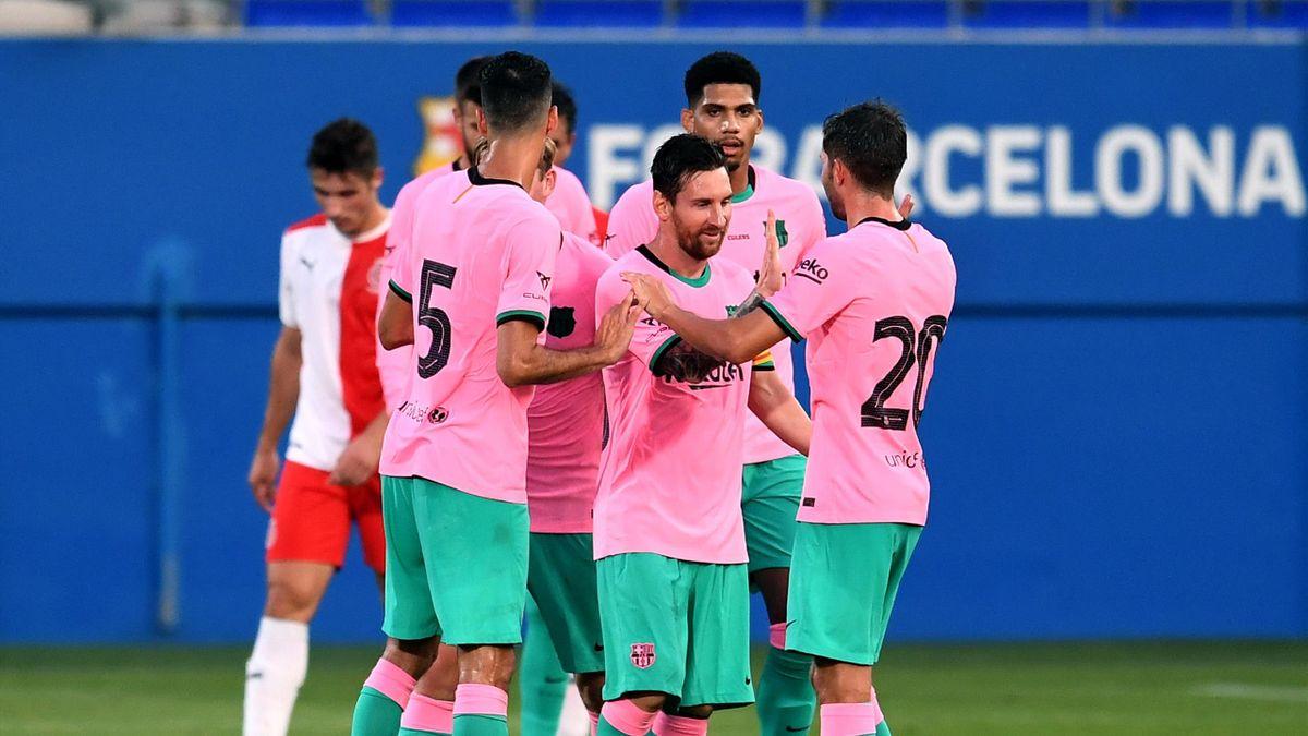 Barcelona Girona Amistoso Messi Se Estrena Con Doblete Y Coutinho Ilusiona 3 1 Eurosport