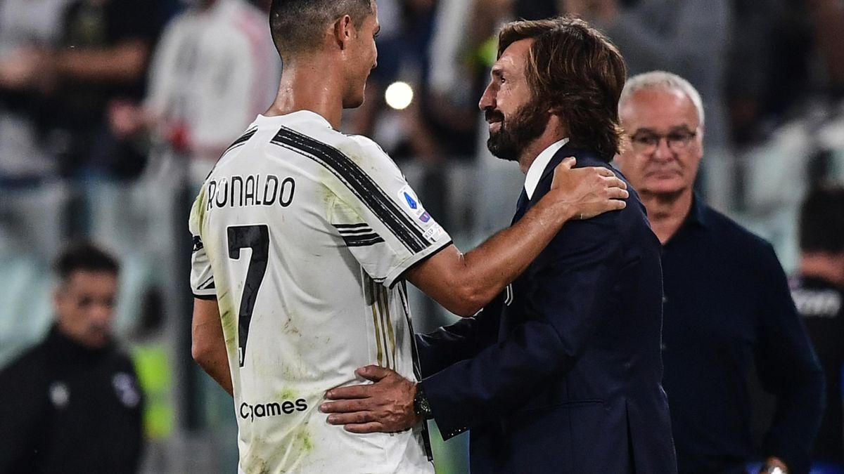 Andrea Pirlo și Cristiano Ronaldo
