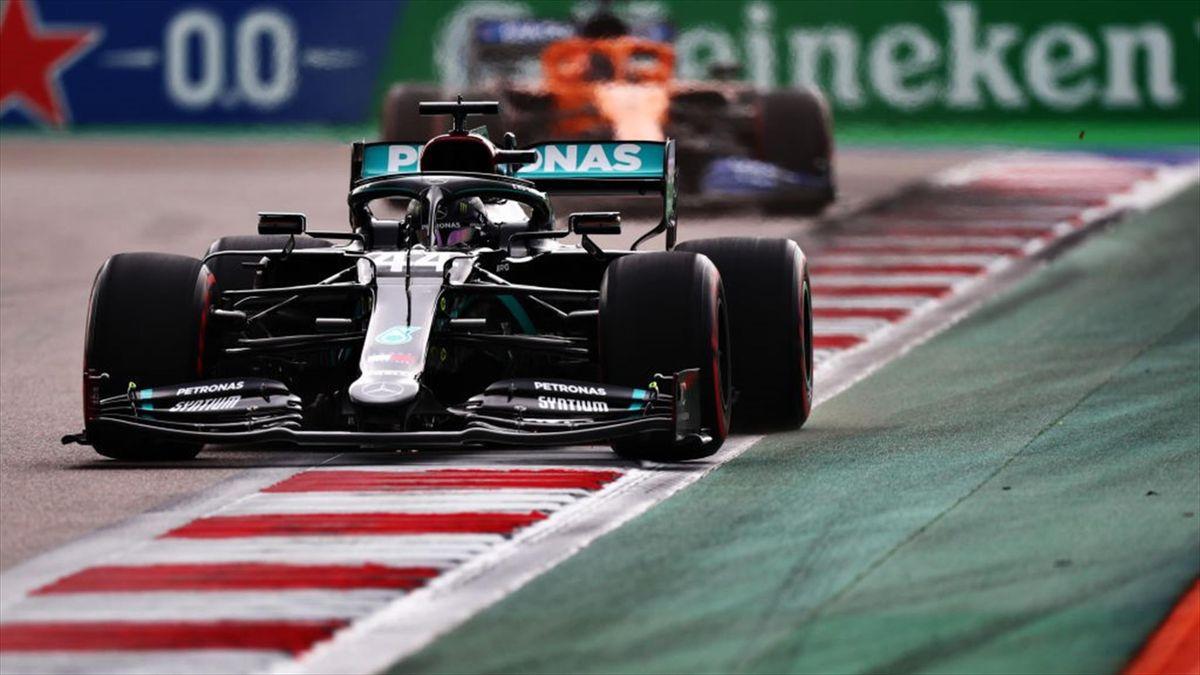 Hamilton en GP de Rusia