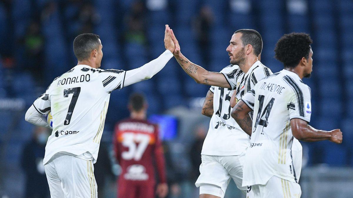 Cristiano Ronaldo a segno su rigore in Roma-Juventus