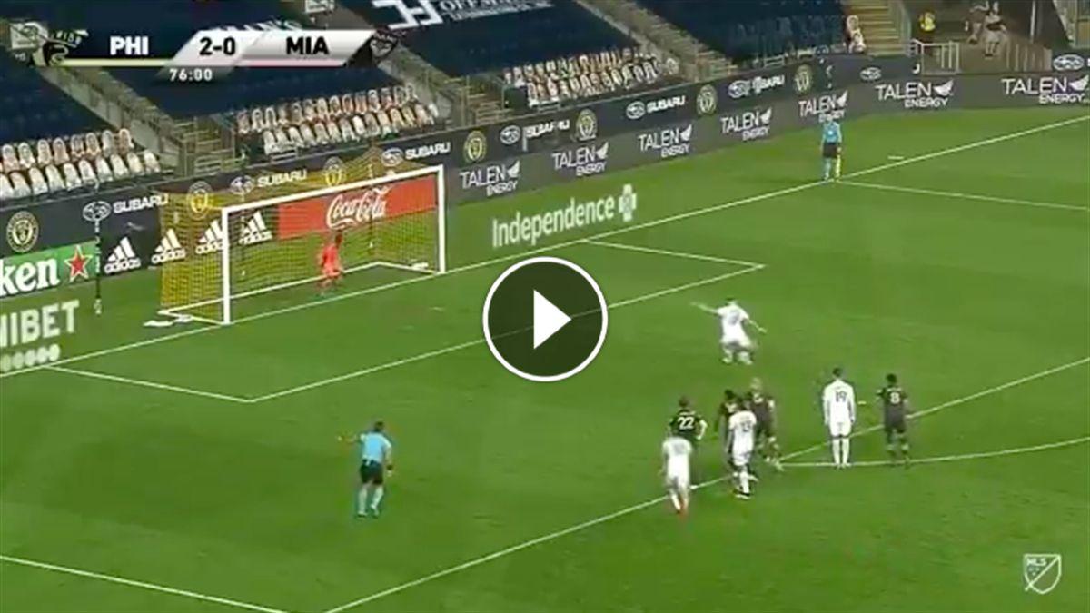 Higuain rigore sbagliato Inter Miami