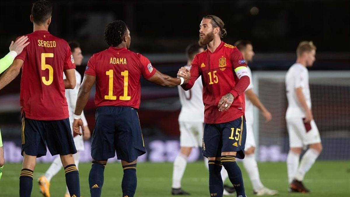 Sergio Ramos y Adama Traoré