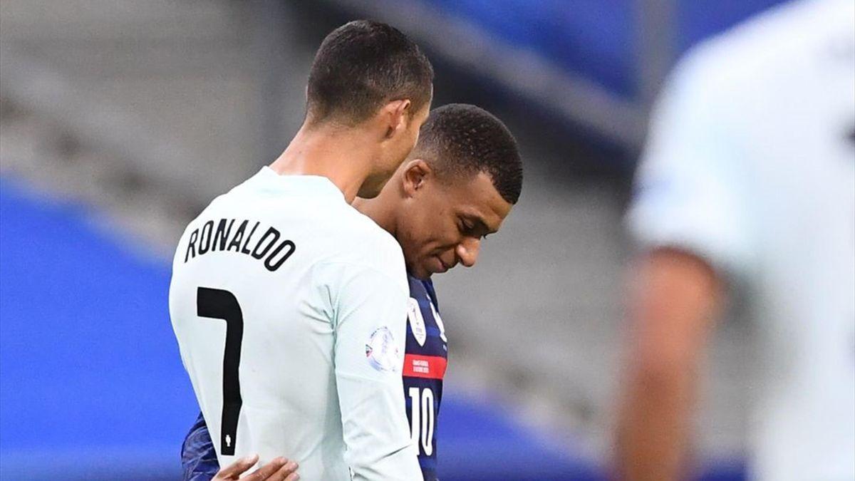 Cristiano Ronaldo et Kylian Mbappé, dimanche 11 octobre 2020